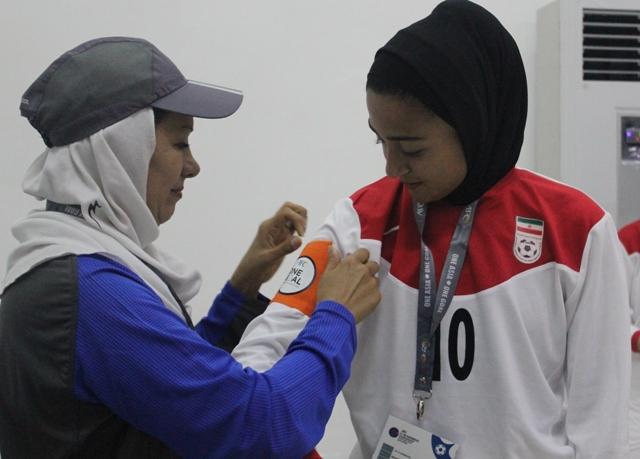 درخشش کاپیتان رامهرمزی تیم فوتبال بانوان کشورمان در مسابقات نوجوانان آسیا