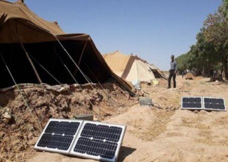 اهدا ۵۴ پنل خورشیدی به عشایر منطقه گندمکار و سرقوچ توسط نماینده رامهرمز