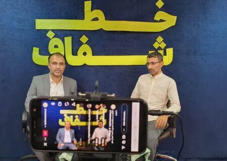 فیلم خط شفاف با حضور سید غلامرضا موسوی نامزد شورای شهر رامهرمز