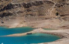 تصاویر/ کاهش شدید ذخیره آب سد جره رامهرمز