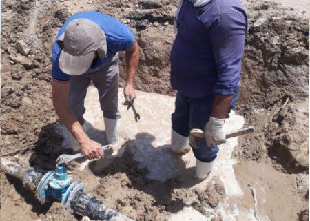 مشکل قطع آب لولهکشی روستاهای دیمه حل شد